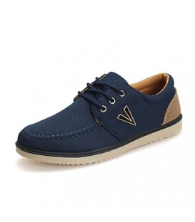 Men's Shoes Outdoor/Casual Leather Fashion Sneakers Blue/Navy