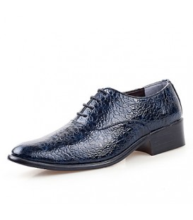 Men's Shoes Wedding / Office & Career / Party & Evening / Casual Leather Oxfords Black / Blue / Red / White