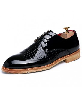 Men's Shoes Office & Career/Party & Evening/Wedding Fashion Leather Oxfords Shoes Black/White/Bule/Red 38-43